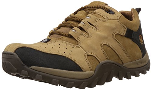 Woodland Men's Camel Leather Sneakers - 8 UK/India (42 EU)-(GC 0232106Y15)