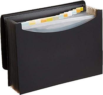 Amazon Basics Expanding Organizer File Folder Letter Size - Black