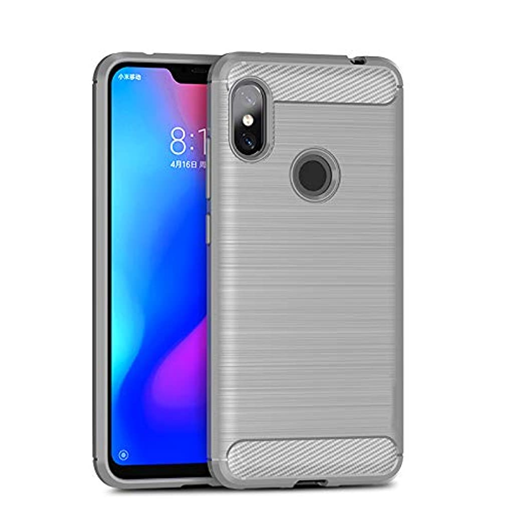 GOOGEE Fitted Cases - for Xiaomi Redmi Note 6 Case Soft Silicone Brushed Carbon Fiber Xiomi Redmi Note6 6a Rugged Armor TPU Phone Cases Cover - for Redmi 6A_Gray - Bottle Hair with Bike Carpet Pro