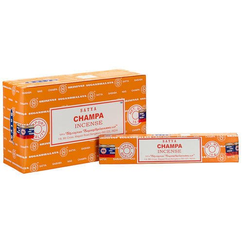 3 X Packs de Champa Satya Nag Champa Bâtonnets d'encens 15 g avec badge de souvenir par Sterling Effectz