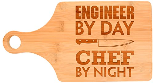 Engineering Gift Engineer By Day Chef By Night STEM Math Paddle Shaped...