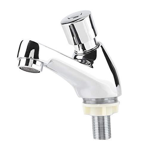 Keukenkraan - Openbare Badkamer Kraan - Verchroomd - Automatisch Sluiten - Waterbesparing - Tijdvertraging - Wastafelkraan