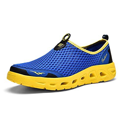 Gym Shoes Lightweight Shoes,Zapatos para hombres y mujeres, zapatos para caminar al aire libre en el río, zapatos para caminar en la playa para caminar en pareja-blue_44,Botas de montaña deportivas