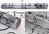 Qingsb Pellicola per vetri Decorativa Pellicola per vetri Colorati Pellicola per vetri Protezione della Privacy Adesivi per vetri per Decorazioni per la casa, Lunghezza 1000 cm