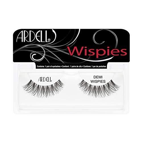 ARDELL Invisibands Demi Wispies - Wimpern aus Echthaar, schwarz, black (ohne Wimpernkleber) ultraleicht, flexibel und wiederverwendbar