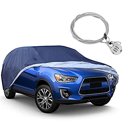 YITAMOTOR SUV Car Cover Universal Fit All Weather Full Breathable Waterproof Sun UV Rain Snow Dust Wind Outdoor Protection