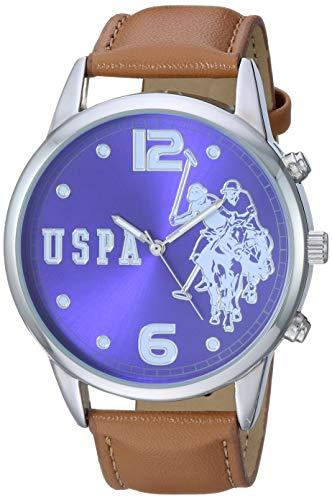 U.S. Polo Assn. Reloj analógico de cuarzo con correa de aleación, café, 21.9 (modelo: USC50404)