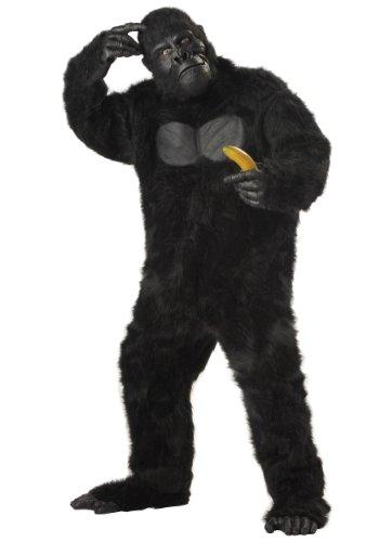 Deluxe - Costume Carnevale Halloween Gorilla Animale, Taglia unica (44-46)