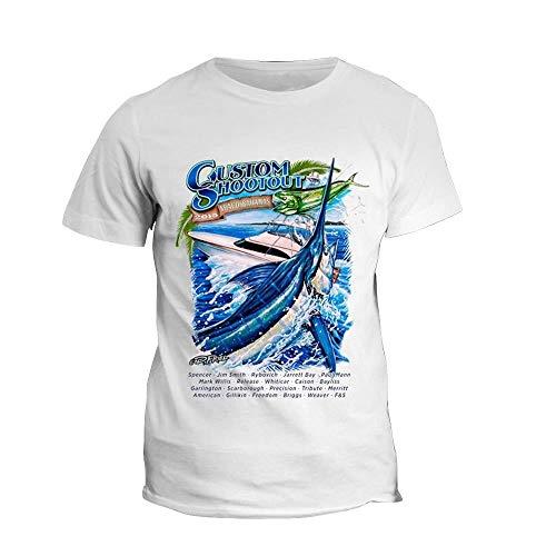 Weike Camiseta de pesca de 2020 con estampado de manga corta para pesca marina (talla XL: