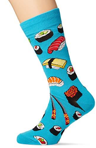 Socksmith Mens Novelty Crew Socks Sushi - Bright Blue, Mens Sock size...