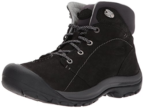 KEEN Women's kaci Winter mid wp-w Hiking Boot Black/Magnet 8.5 M US