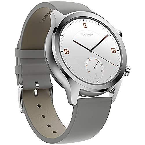 Ticwatch Mobvoi C2 Grey, Smartwatch Classico, Orologio per Uomo e Donna con Wear OS di Google, con Certificazione IP68 a Prova d'Acqua, Google Pay, Argento
