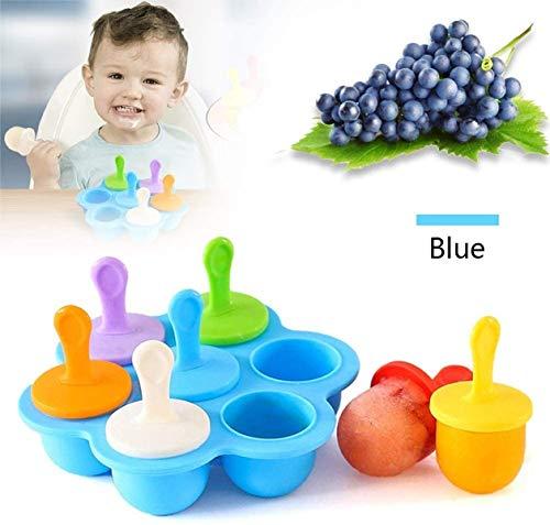 HOMGREEN - Molde para paletas de silicona para helados, diseño de popsicle (azul)