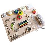 Bounce Ball Asukohu Busy Board para crianças - Sensory Board - Madeira Busy Board para crianças