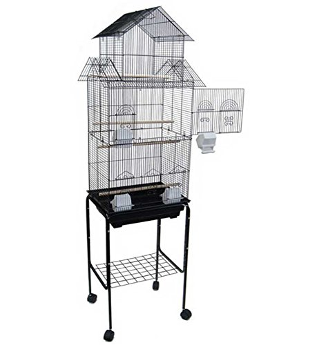 YML 6844 barreaux 3/20,3 cm Hauteur Pagode Top Cage à Oiseaux avec Support