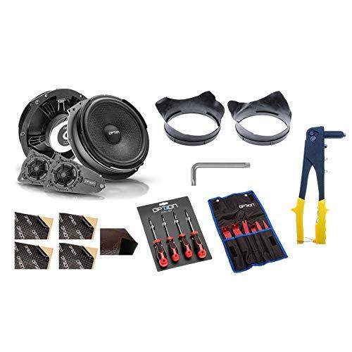 OPTION Air Lautsprecher-System vorne - Komplett Paket kompatibel mit VW T5 -...