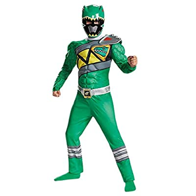 Disguise Green Ranger Dino Charge Classic Muscle Costume, Medium (7-8) by Disguise Costumes - Toys Division