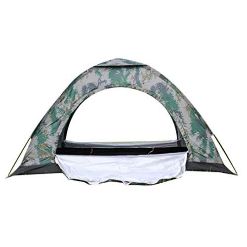 Kamenda - Tienda de campaña doble impermeable, tela de poliéster de una sola capa para viajes al aire libre senderismo