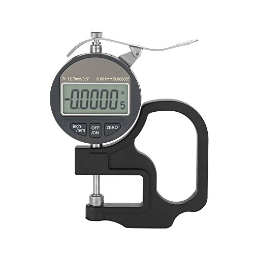 Calibre de espesor digital para instrumento de medición, hilo de cuero de papel 0-12,7 mm, rango de medición (0,001 mm)
