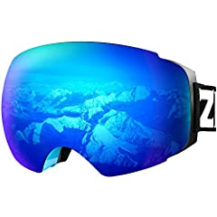 High Performance Anti-fog & UV Protection - Ski & snowboard goggles with unique anti-fogging treatment and 100% UV400 protection coating. Magnetic Lens Technology - 8 magnets hold the lens tight and easy to be replaced for different terrains and ligh...