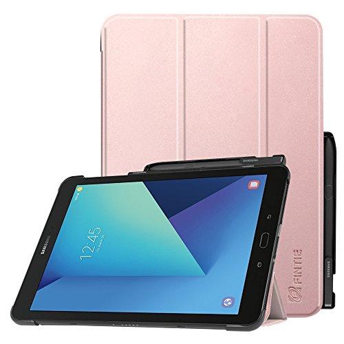 Fintie Hülle für Samsung Galaxy Tab S3 T820 / T825 (9,68 Zoll) Tablet-PC - Ultra Schlank Ständer Schutzhülle Cover Hülle mit Auto Schlaf/Wach Funktion & eingebautem S Pen Halter, Roségold