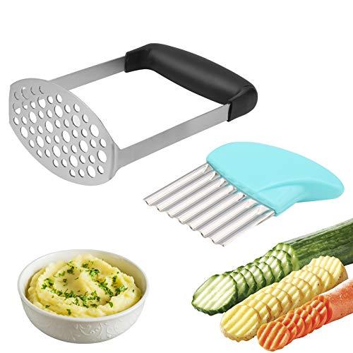 Machacador de Patatas, Trituradora de Patata de Acero Inoxidable, Trituradora de Alimentos para Bebés para Prensa de Patatas, Mermeladas, Verduras y Frutas