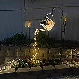 Star Shower Garden Art LED-Licht mit Pfahl,Solar Watering Can Fairy Garden Light,gießkanne Lichterkette Vine Solar Watering Can Lights, Garten Eid Mubarak Easter Metal Decor Lights Im
