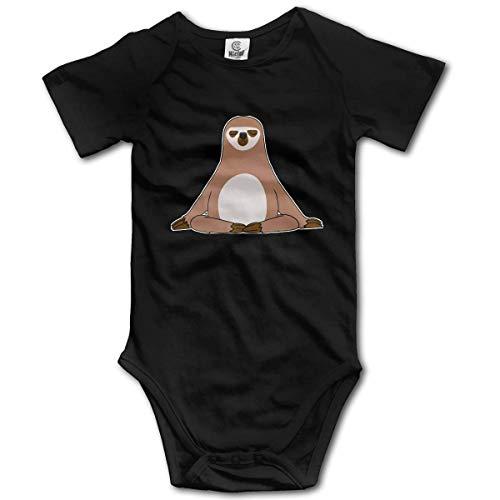 Lplpol Buddha Sloth Cotton Baby Onesies Bodysuit Jumpsuit for Unisex Baby Boys Girls, 12-18 Months, GK883