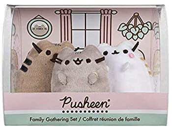 GUND Pusheen Family Gathering Collector Set of 3 Plush Stuffed Animal Cats ,3 inches