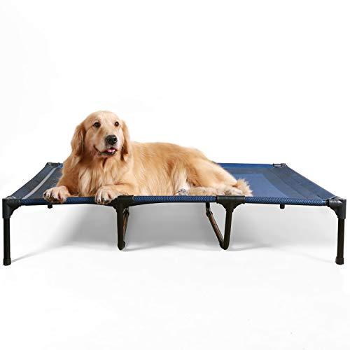 ANWA Erhöhtes Hundebett für Garten draußen, Hundeliege Outdoor Grosse Hunde, Hundebett für große Hunde höhe...