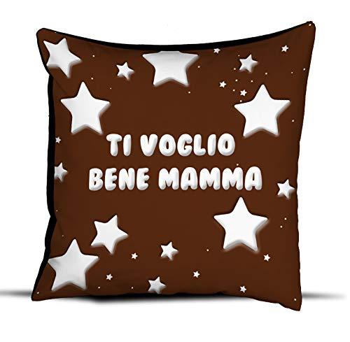 quickgadget Cuscino Idea Regalo Festa della Mamma, Ti Voglio Bene Mamma chaccolate Star