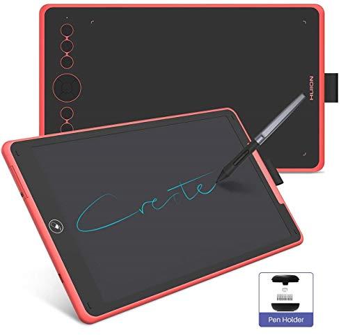 2019 NIEUWE HUION Grafische Tekentablet, Huion Inspiroy Ink H320M Innovated Dual Purpose Grafische Tablet & LCD Schrijftablet, 8192 Niveaus, Kantelfunctie, Android Ondersteund, met Hoes(Koraalrood)