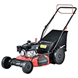 PowerSmart Lawn Mower, 22-inch & 170CC, Gas Powered Self-Propelled Lawn Mower with 4-Stroke Engine, 3-in-1 Gas Mower in Color Red/Black, 5 Adjustable Heights (1.18''-3.0''), DB2322SR