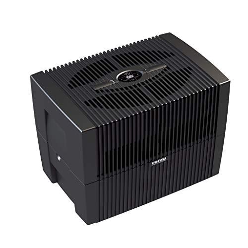 Venta COMFORTPlus Luftwäscher LW45, Luftbefeuchtung und Luftreinigung (bis 10 µm Partikel) für Räume bis 60 qm, Brillantschwarz, mit digitaler Steuerung