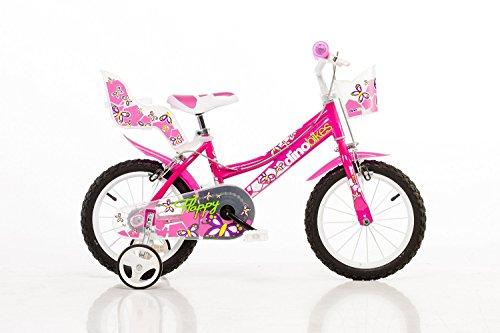 bicicletta bambini dino 166r 16 pollici ragazze bianche freni rim