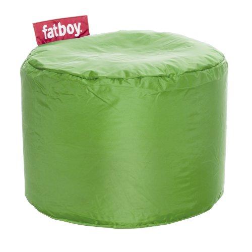 Fatboy® Point grün Nylon-Hocker | Runder Sitzhocker | Trendiger Poef/Fußbank/Beistelltisch | 35 x ø 50 cm