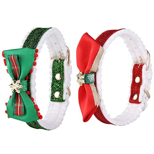 Balacoo 2Pcs Weihnachten Hund Katze Fliege Kragen Urlaub Welpen Katze Krawatten Weihnachten Kragen Weihnachten Party Hund Kätzchen Kostüm Dekoration