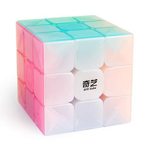 D-FantiX Qiyi Jelly Speed Cube 3x3 Qiyi Warrior W 3x3x3 Stickerless Cube Puzzle Toy