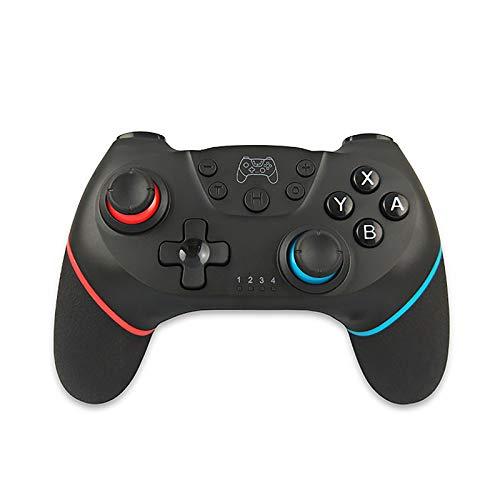DAWN&ROSE Wireless Gamepad mit Screen Shot Vibration 6-Achse mit Gyroskopbeschleuniger Bluetooth-Anschluss-Stütze-PC,Left red