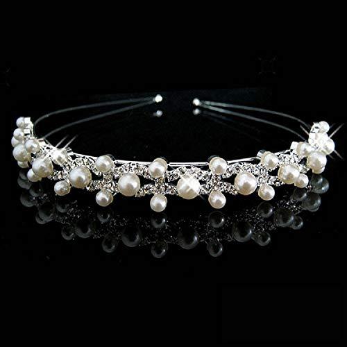 Unbekannt Tiara Haarschmuck Diadem Krone Silber Strass Haarreifen Braut Hochzeit Reifen