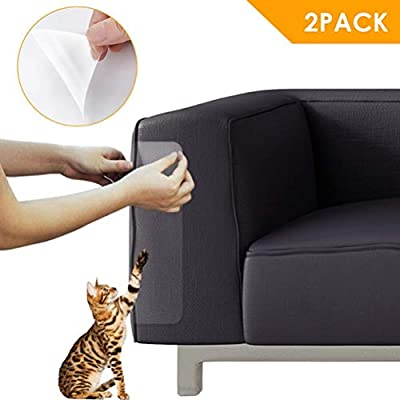 BETWEENME 2Pcs Cat Scratch Guard Mat Pet Cat Scratching Post Furniture Sofa Seat Protector Anti-scratch Stickers Cat Couch Protector Furniture Defender by between buringfor
