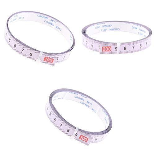 3 piezas de sierra de inglete cinta métrica adhesiva regla métrica 3 método de lectura