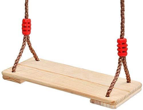 Pliers Barras de Pull-up Árbol de Madera Asiento de Swing para - Juegos de jardín Swing de Madera de Pino con Cuerda Ajustable para pórtico Silla de Madera de Madera