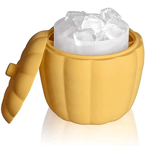 EANSSN Silikoneis-Eimer, Cube Silikon Eismaschine Eimer Mit Deckel, Flaschenfleisch-Getränke-Likörkühler, Geeignet Für Partys, Abendessen, Picknicks