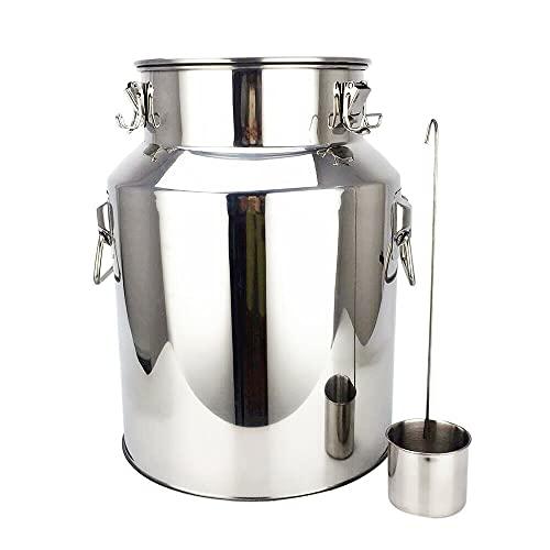 SHZICMY 18L Edelstahl Fermenter Lageröl Wasser Fass mit Silikondichtung im Deckel zum Wein Bierherstellung, Camping