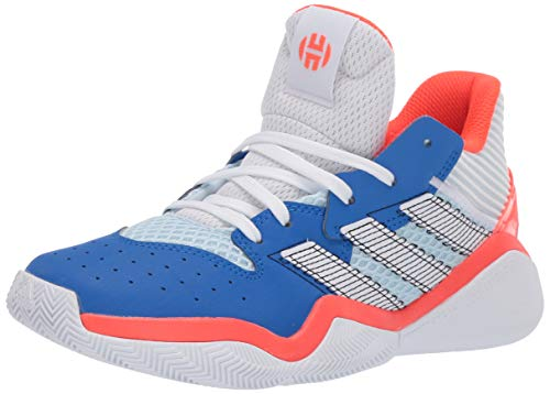 adidas Kids' Harden Stepback Basketball Shoe, Sky Tint/FTWR White/Glory Blue, 3.5 M US