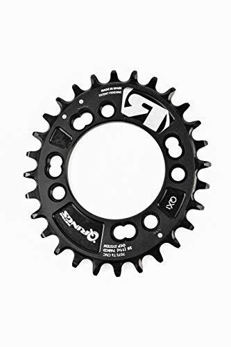 R ROTOR BIKE COMPONENTS Q Rings Oval Chainring BCD76x4 Q30T Black