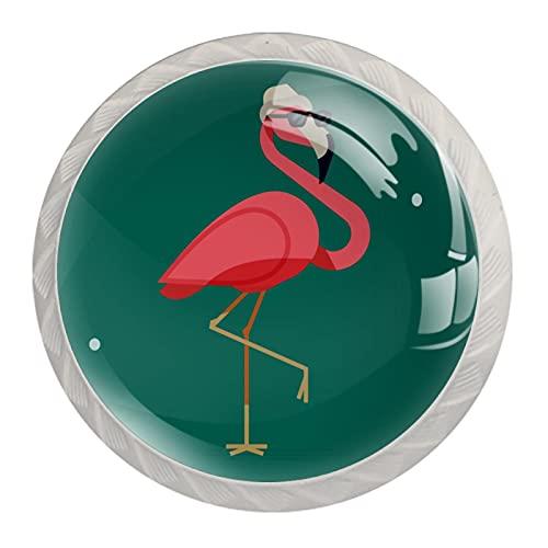 Flamingo Wear - Pomos para gabinetes de cocina (4 unidades)