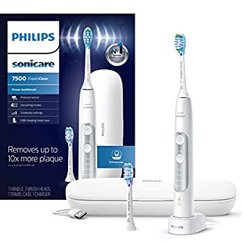 Philips Sonicare HX9690/06 ExpertClean 7500 Bluetooth Rechargeable Electric Toothbrush White