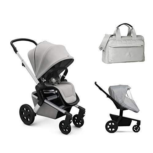 Best Buy! Joolz Hub Stroller in Stunning Silver with Diaper Bag & Rain Cover